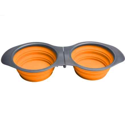 Avalanche Silicone Foldable Feeder Set - Large in Orange - Closeouts