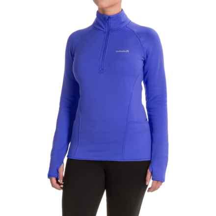 Avalanche Slalom Fleece Shirt - Zip Neck, Long Sleeve (For Women) in Bella Blue - Closeouts