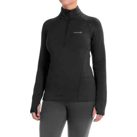 Avalanche Slalom Fleece Shirt - Zip Neck, Long Sleeve (For Women) in Black - Closeouts