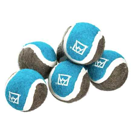 Avalanche Small Tennis Balls Dog Toy - 6-Pack in Blue - Closeouts