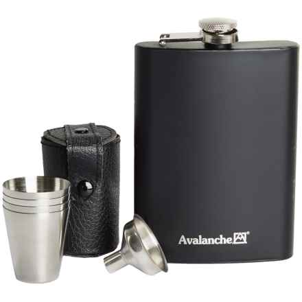 Avalanche Stainless Steel Flask Set - 7-Piece in Charcoal - Closeouts