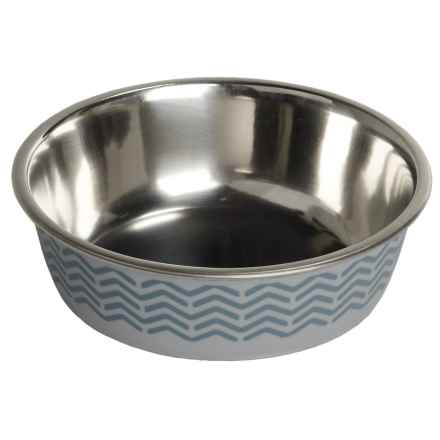 Avalanche Stainless Steel Nonslip Pet Bowl - 14 oz. in Gray - Closeouts