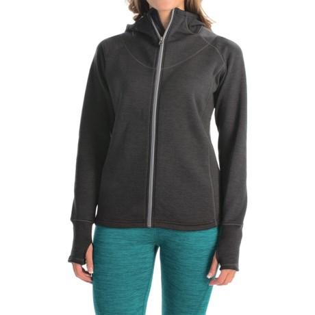Avalanche Swift Fleece Hoodie - Full Zip (For Women) in Asphalt/Quick Silver