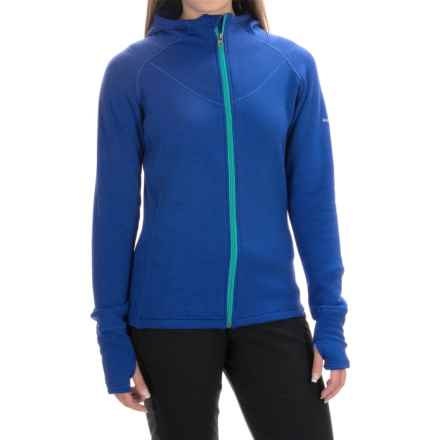Avalanche Swift Fleece Hoodie - Full Zip (For Women) in Batik Blue/Bright Teal - Closeouts