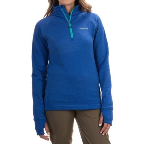 Avalanche Swift Fleece Jacket -  Zip Neck (For Women) in Batik Blue/Bright Teal