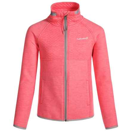 Avalanche Talus Knit Jacket - Full Zip (For Big Girls) in Neon Coral - Closeouts