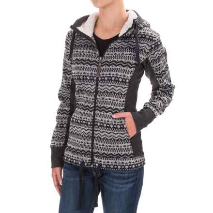 Avalanche Taos Sweater Knit Hoodie (For Women) in Black Heather - Closeouts