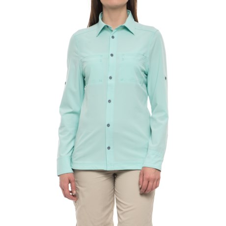 Avalanche Trektrail No Fly Zone Shirt - UPF 50+, Long Sleeve (For Women) in Eggshell
