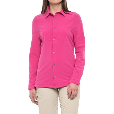Avalanche Trektrail No Fly Zone Shirt - UPF 50+, Long Sleeve (For Women) in Pink Ginger