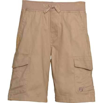 Avalanche Twill Cargo Shorts (For Big Boys) in Khaki - Closeouts