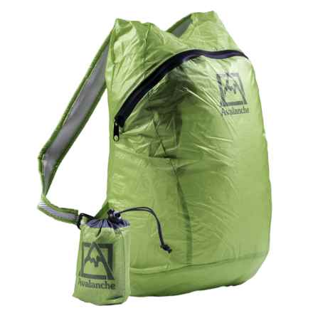 Avalanche Ultra-Lightweight Packable Backpack with Zip-Up Bag in Lime Green - Closeouts