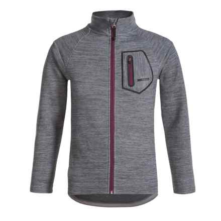 Avalanche Volcan Soft Shell Jacket - Full Zip (For Big Boys) in Grey - Closeouts