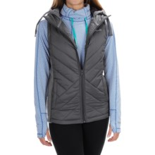 Avalanche Wear Arctic Hybrid Vest - Hooded, Insulated (For Women) in Asphalt/Quicksilver - Closeouts