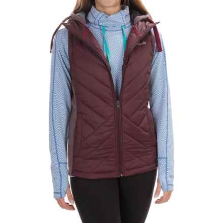 Avalanche Wear Arctic Hybrid Vest - Hooded, Insulated (For Women) in Nocturine Wine/Beau - Closeouts