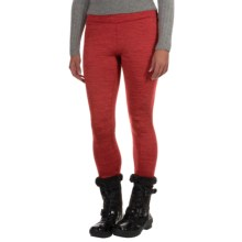 Avalanche Wear Aurora Fleece Leggings (For Women) in Fresno Red Spacedye - Closeouts