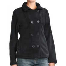 Avalanche Wear Boston Pea Coat - Fleece (For Women) in Black - Closeouts