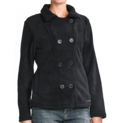 Avalanche Wear Boston Pea Coat - Fleece (For Women) in Blanc/Steel