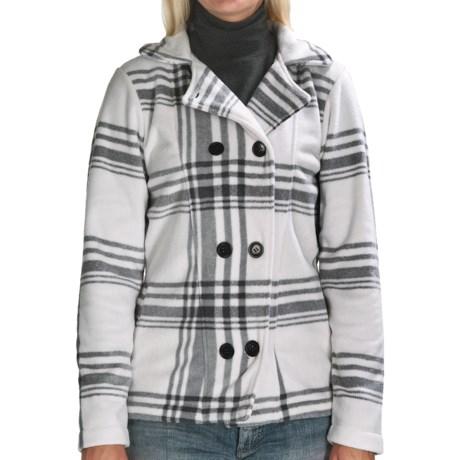 Avalanche Wear Boston Pea Coat - Fleece (For Women) in Blanc/Steel