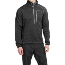 Avalanche Wear Brighton Fleece Pullover Shirt - Zip Neck, Long Sleeve  (For Men) in Charcoal Black - Closeouts