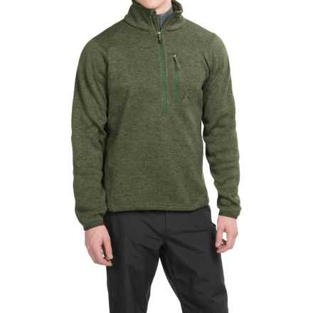 Avalanche Wear Brighton Fleece Pullover Shirt - Zip Neck, Long Sleeve  (For Men) in Olivine - Closeouts