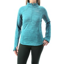 Avalanche Wear Calypso Pullover Shirt - Zip Neck (For Women) in Peacock Melange - Closeouts