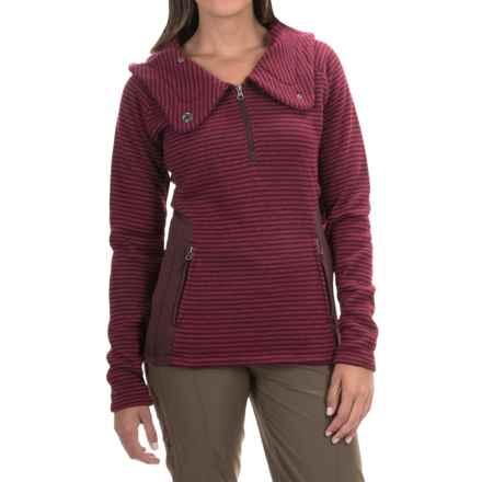 Avalanche Wear Cascade Hooded Sweater - Zip Neck (For Women) in Beau Nocturne Wine - Closeouts