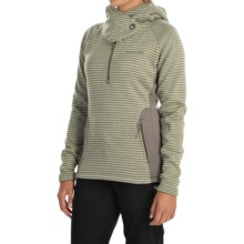 Avalanche Wear Cascade Hooded Sweater - Zip Neck (For Women) in Pale Olive - Closeouts