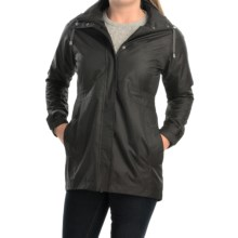 Avalanche Wear District Hooded Rain Coat - Waterproof (For Women) in Black - Closeouts