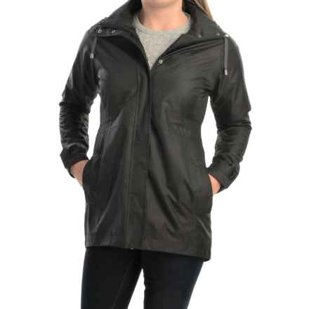 Avalanche Wear District Hooded Rain Coat - Waterproof (For Women) in Black - Closeouts