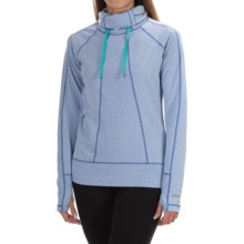 Avalanche Wear Divinity Cowl Neck Shirt - Long Sleeve (For Women) in Batik Blue/Bright Teal - Closeouts