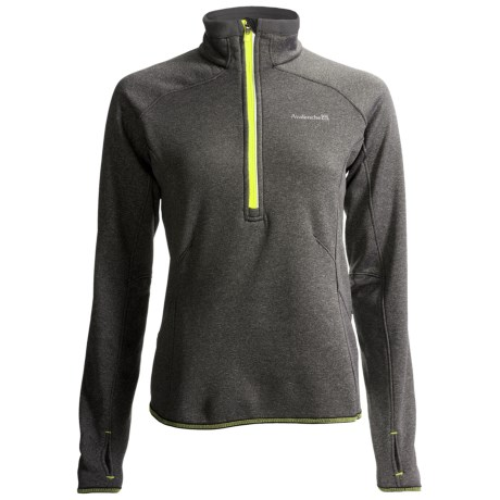 Avalanche Wear Exhale Pullover - Zip Neck, Long Sleeve (For Women) in Dark Grey