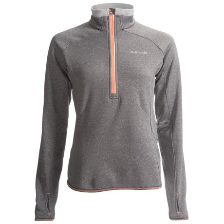Avalanche Wear Exhale Pullover - Zip Neck, Long Sleeve (For Women) in Gargoyle