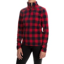 Avalanche Wear Fairmont Jacket - Zip Neck, Long Sleeve (For Women) in Red Buffalo Plaid - Closeouts