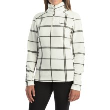 Avalanche Wear Fairmont Jacket - Zip Neck, Long Sleeve (For Women) in White Plaid - Closeouts