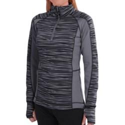 Avalanche Wear Fleece Mogul Shirt - Zip Neck, Long Sleeve (For Women) in Black Asphalt