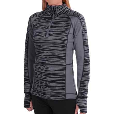 Avalanche Wear Fleece Mogul Shirt - Zip Neck, Long Sleeve (For Women) in Black Asphalt - Closeouts