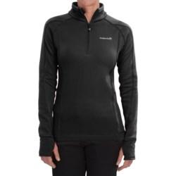 Avalanche Wear Fleece Mogul Shirt - Zip Neck, Long Sleeve (For Women) in Black