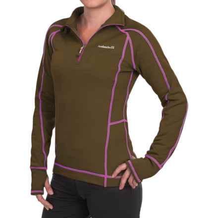 Avalanche Wear Fleece Mogul Shirt - Zip Neck, Long Sleeve (For Women) in Dark Olive/Rhodamine Red - Closeouts