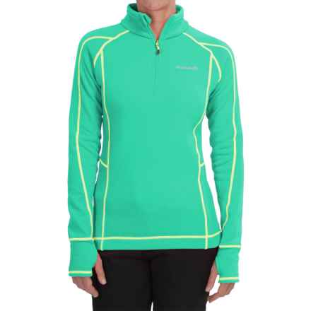 Avalanche Wear Fleece Mogul Shirt - Zip Neck, Long Sleeve (For Women) in Electric Green - Closeouts