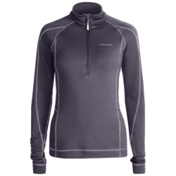 Avalanche Wear Fleece Mogul Shirt - Zip Neck, Long Sleeve (For Women) in Black
