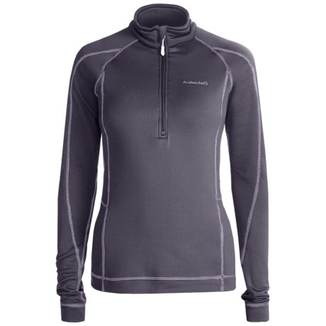 Avalanche Wear Fleece Mogul Shirt - Zip Neck, Long Sleeve (For Women) in Excalibur