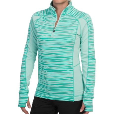 Avalanche Wear Fleece Mogul Shirt - Zip Neck, Long Sleeve (For Women) in Ice Green Stix