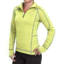 Avalanche Wear Fleece Mogul Shirt - Zip Neck, Long Sleeve (For Women) in Morning Yellow/Quick Silver - Closeouts