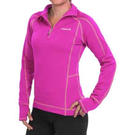 Avalanche Wear Fleece Mogul Shirt - Zip Neck, Long Sleeve (For Women) in Rhodamine Red/Bright Carnation - Closeouts