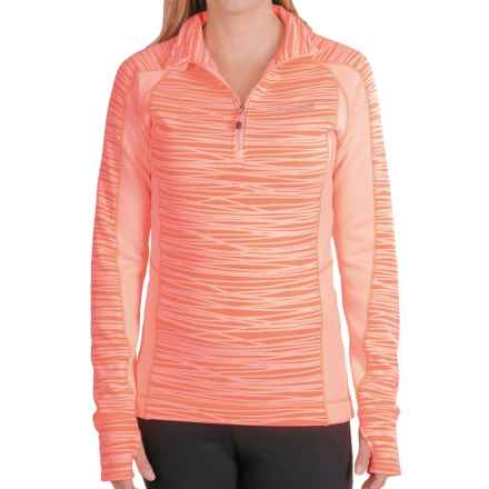 Avalanche Wear Fleece Mogul Shirt - Zip Neck, Long Sleeve (For Women) in Sunkist Coral Stix - Closeouts