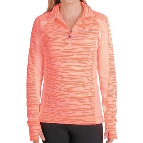 Avalanche Wear Fleece Mogul Shirt - Zip Neck, Long Sleeve (For Women) in Sunkist Coral Stix