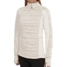 Avalanche Wear Fleece Mogul Shirt - Zip Neck, Long Sleeve (For Women) in White Stix - Closeouts
