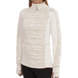 Avalanche Wear Fleece Mogul Shirt - Zip Neck, Long Sleeve (For Women) in White Stix