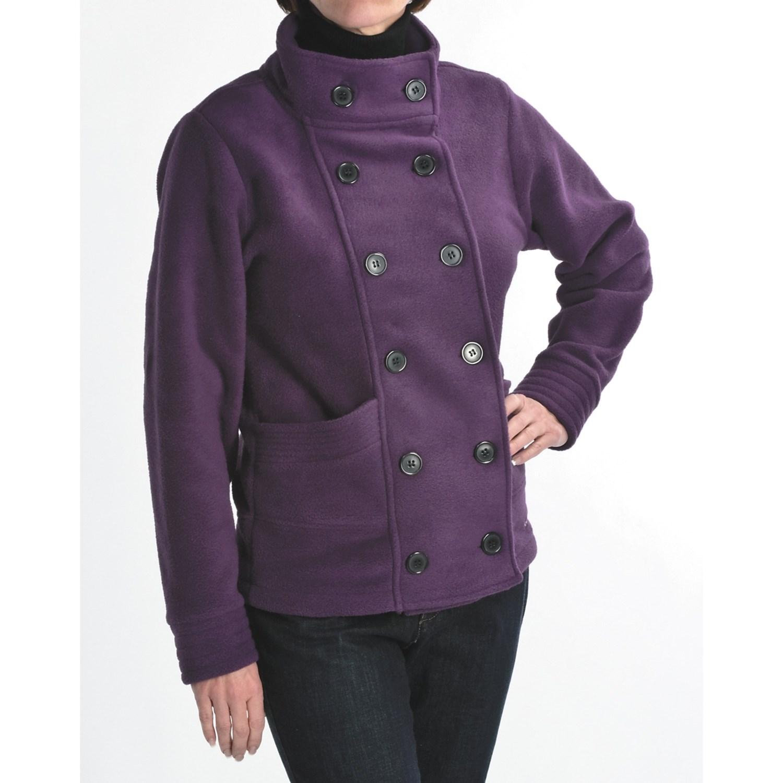 Fantastic Avalanche Wear Fleece Pea Coat (For Women) 4249G - Save 37%
