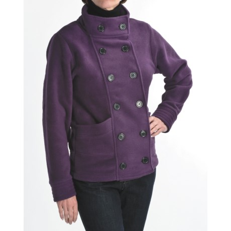 Avalanche Wear Fleece Pea Coat (For Women) in Reign